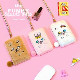 $enCountryForm.capitalKeyWord NZ - Girls Plush card Holder Bag Embroidery Dog Cat Cute Purse Bus Case Bank Card Rope Bags Pocket Pouch Kids Small Wallets