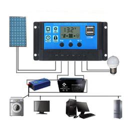 Solar Panels 12 Australia - 2018 New LCD PWM 10 20 30A 40A 50A 60A Dual USB Solar Panel Battery Regulator Charge Controller 12 24V