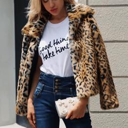 11286e0ef63 Leopard Print Luxury Women s Faux Fur Coat Plush furry Fashion Casual  Jacket Coats Plus Size 2018 Autumn Winter Outwear Women