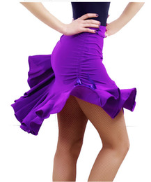 ac4efbd6b 2017 Nuovo Sexy Latino Salsa Tango Rumba Cha Cha Ballroom Dress Gonna Nero  Viola Square Dance Latin Dancewear per le donne