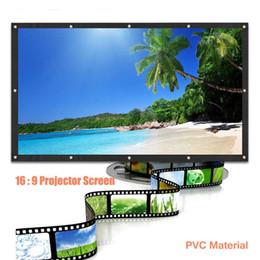 100 pouces 16: 9 Portable HD Projector Screen Rideaux Film Portable Screen, ventes chaudes avec une bonne qualité