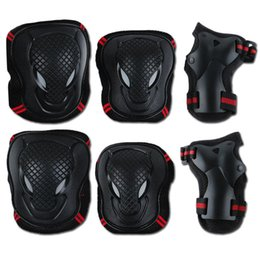 $enCountryForm.capitalKeyWord Australia - Adult Children Safety Sports 3in1 Protective Gear Knee Pads Elbow Pads Wrist Guards Set for Skateboarding Scooter Roller Skating