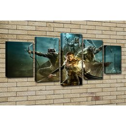 Discount panel anime canvas prints - Home Decor Room Wall Art Canvas HD Printed Canvas 5 Panel Poster Sports Cartoon Movie Game Anime Pictures