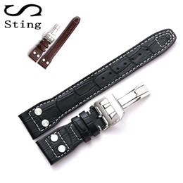 rivets accessories 2020 - 1PCS Genuine Soft Calf Leather Watch Band Strap for Mark 17 Series Watches Accessories 22MM Belt Bracelet with Rivet che