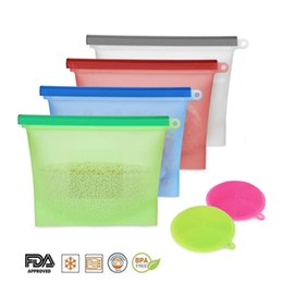 $enCountryForm.capitalKeyWord NZ - Reusable Silicone Food Storage Bag Silicone Food Savers Bags Food Storage Preservation Airtight Seal Container Kitchen Cooking Tools