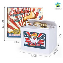 electronic money bank 2019 - Electronic Chicken Trump Automatic Stole Coin Money Saving Banks Moneybox Christmas Gift Piggy Bank Saving Box Money Box
