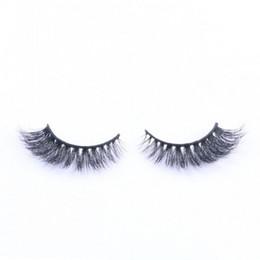 Eyelash Curl 3d UK - Hot Sale 3D False Eyelashes 100% Handmade Mink Hair Lashes Natural Long Curl Thick Eyelash Extensions Black Color Eyelashes