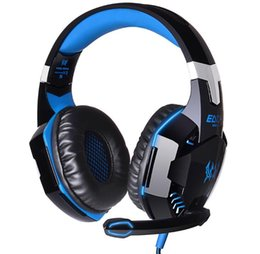 Discount vibration gaming headsets - 69 EACH G2200 USB 7.1 Surround Sound Vibration Game Gaming Headphone Computer Headset Earphone Headband with Microphone