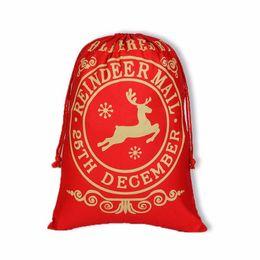$enCountryForm.capitalKeyWord UK - 2018 Christmas Gift Bags Large Organic Heavy Canvas Bag Santa Sack Drawstring Bag With Reindeers Santa Claus Sack Bags for kids lin4337