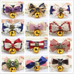 fall apparel 2019 - Adjustable Pet Dog Cat Bow Tie Cute Dog Bow Necktie Bell Collar Dog Neck Accessories Lovely Cat Apparel discount fall ap