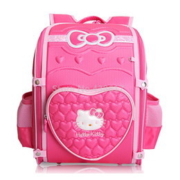 263e194ff00 3D EVA Cute Cartoon Pink Hello Kitty Girls School Bag For Kids Children  Primary School Backpack Bags