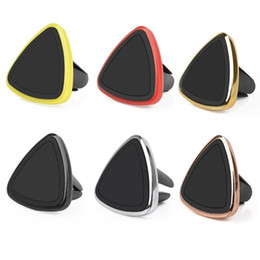 Vehicle mounting brackets online shopping - Fashion Car Mount Phone Holder Triangle Vehicle Air Vent Reinforced Magnetic Bracket For Safe Driving High Quality cs Ww