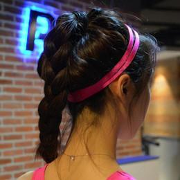 Orange Hair Accessories Australia - 1pcs Women Colorful Headband Football Yoga Clean Hair Bands Anti-slip Elastic Rubber Thin Sport Headband Hair Men Accessories