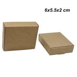 Recycled Paper Gifts NZ - 6x5.5x2cm 50Pcs Lot Brown Craft Paper Birthday Gifts Boxes for Candy Cake Handmade Soap Storage Boxes Kraft Paper Pack Box for Jewelry Pearl