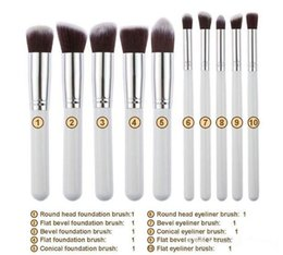 $enCountryForm.capitalKeyWord Australia - 10pcs Makeup Brushes 10pcs Professional Cosmetic Brush Kit Nylon Hair Wood Handle Eyeshadow Foundation Tools DHL free shipping