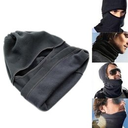 full face mask for winter NZ - Unisex Thermal Fleece Balaclava Neck Winter Ski Full Face Mask Cover Cap For Motorcycle Face Mask Windproof Hat