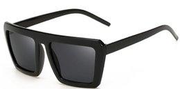 China European Fashion Women & Men Retro Sunglasses Black Color Thick Frame Sun Glasses Spectacles Color Film Adumbral Eyeglasses supplier wholesale black films suppliers