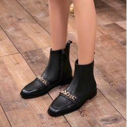 $enCountryForm.capitalKeyWord UK - vvtisks5 CHAIN LEATHER SUEDE FLAT SHOES BLACK ANKLE BOOTS 34-40 Women Pumps Loafers Ballerina Flats Espadrilles Wedges Boots Booties
