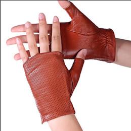Hollow Fingers Australia - LANMREM 2018 Fashion New Hollow Out Non-slip Half Finger Gloves For Women Black Personality Glovers Autumn Winter YF248