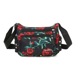 Cloth hobo bags online shopping - Brand high quality waterproof messenger bag Women s fashion fresh floral shoulder bag New cluth College style cloth