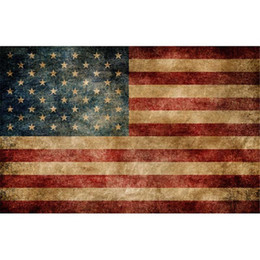 Chinese  Horizontal American Flag Photography Backdrops Vintage Digital Printed Holiday Celebration Banner Children Photo Studio Backgrounds Vinyl manufacturers
