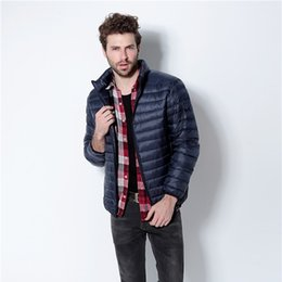 Duck Parka Man Canada - Plus Size Winter Jacket Men 2017 New Couples Thin Coats 90% Duck Down Ultra-light Slim Stand-Collar Cotton-Padded Solid Parkas
