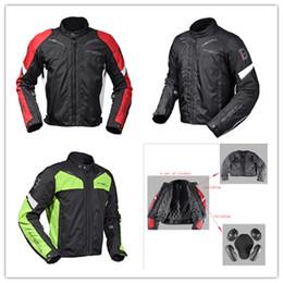 Discount waterproof thermal jackets - Motorcycle waterproof windproof thermal protective racing jacket with 5 Armor thermal vest motorcycle bicycle riding jac