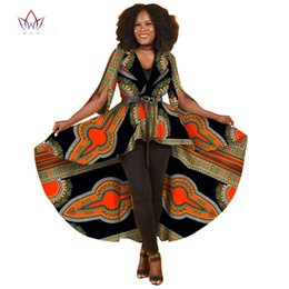 $enCountryForm.capitalKeyWord UK - 2017 Summer New African Dresses for Women Trench Women Maxi Outwear Trench Coat Womens Dashikis Brand Clothing 6XL BRW WY1812
