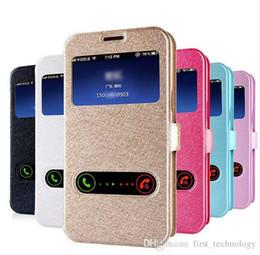 S5 Flip View Case Australia - Luxury Smart Front Window View Leather Flip Case For Samsung S8 Plus S6 S7 Edge S5 Note 5