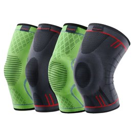 patella knee protector 2018 - Kuangmi 1 Pc Compression Knee Sleeve Basketball Knee Pads Knee Support Brace Sports Volleyball Patella Elastic Sports Pr
