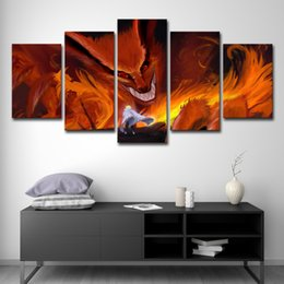 $enCountryForm.capitalKeyWord NZ - Modern Pictures Canvas Prints Painting Wall Art Painting Home Decor 5 Panel Naruto Anime Cartoon Wall Art Decor Modern Picture