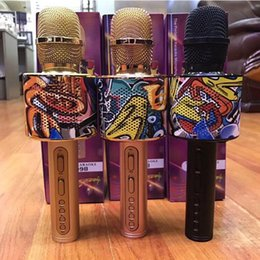 $enCountryForm.capitalKeyWord NZ - New D998 Camouflage Wireless Bluetooth Heldhand Microphone Built-in 1800MA lithium battery KTV Home Mic Speaker Player