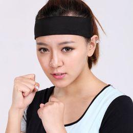 Discount thick headbands - Sports Yoga Gym Sweat Headband Soft Stretch Hair Band Cotton Thick Tower Sports Tennis Badminton Basketball Sweat Headba