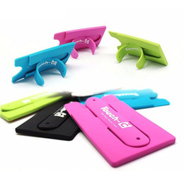 Discount cell phone collection - Colorful touch U Touch C insert bus Card collection Silicone Stand Holder with Earphone Winder card bag cutter for cell