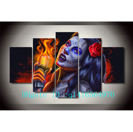 $enCountryForm.capitalKeyWord Australia - Day of The Dead Face -1,5 Pieces Canvas Prints Wall Art Oil Painting Home Decor  (Unframed Framed)