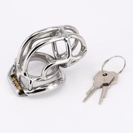 Gear Ring Belt Australia - Male Chastity Device New Design Penis Lock Scrotum Ring Cock Cage Metal Steel Chastity Belt for Men Fetish BDSM Bondage Gear Sex Toy