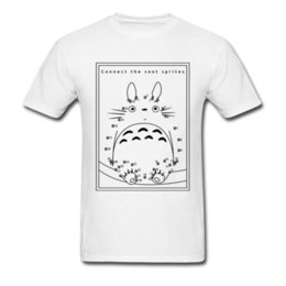 Connect The Dots T-shirt Neighbor Totoro T Shirt Uomo Top Tees Fuliggine Sprites Abbigliamento stampato Kawaii Japan Maglietta anime