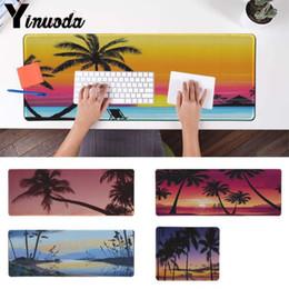 36dcc02c69e Yinuoda New Design Beach Scenery Keyboards Mat Rubber Gaming mousepad Desk  Mat Large Gaming Mouse Pad Locking Edge Mousepad