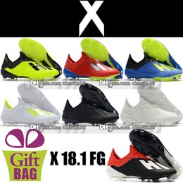 $enCountryForm.capitalKeyWord NZ - Cheap Sale Mens Leather Soccer Shoes Cleats 18.1 Messi Speed Mesh FG Soccer Boots X 18.1 Speedmesh FG Trainers Football Shoes US 6.5-11.5