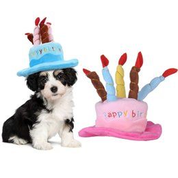 Pet Cap Cute Dog Birthday Hat With Cake Candle Hats Outdoor Caps Christmas Gift For Cat Puppy Party Costume Headwear Accessories