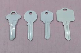 Heart Housing NZ - Assorted white painted house blank Keys ready for heat press sublimation printing of any custom image as gift items