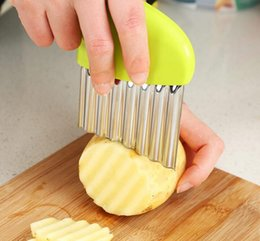 Fry Cutters Australia - Stainless Steel Potato Slicer Wavy Cutter Multi-function Potato knife Cutters Cut French Fries Kitchen Gadgets Vegetable Tools