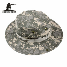 19694c7f MEGE Summer Bucket Hats, Airsoft Sniper Camouflage Hats, Tactical Paintball Boonie  Hats, Outdoor Caps Factory Direct Sale, Free Size 59-60cm