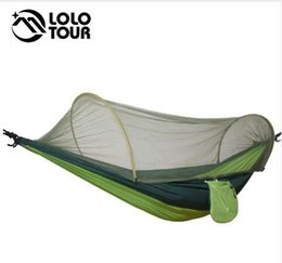 Wholesale Outdoor Camping Parachute Hammocks Mosquito Net Hamac Can Be Used Camping Survival Travel Hiking Trekking Sleeping Tent Mats