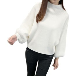 Korean Version New Winter Women Sweaters Fashion Turtleneck Batwing Sleeve Pullovers  Loose Knitted Sweaters Female Jumper Tops d1bbe6666