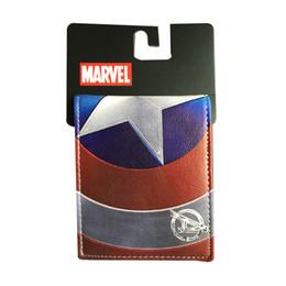 $enCountryForm.capitalKeyWord Australia - Latest American Captain Wallet Iron Man short wallet men's money card pack movie Revenge League 3 actors short Wallet