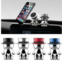 Wholesale Cell Phone Tablet Stand Magnet Car Phone Holders Crazy Hat Magnetic Phone Holder Rotation Car Stand Mount Mobile Holder