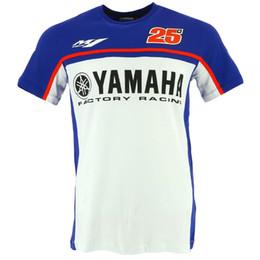 Venta al por mayor de Nuevo 2018 Moto GP MVK Maverick Vinales 25 camiseta PARA Yamaha M1 Motorcycle Racing Sports Team Race Edition CAMISETA Blanco Azul