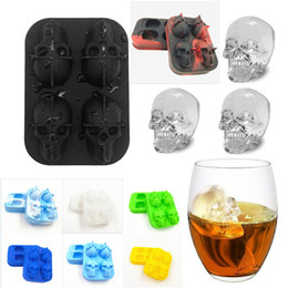 $enCountryForm.capitalKeyWord Australia - New Fashion Silicone Bones Skull Ice Cube Mold Kitchen Chocolate Tray Silicone Cake Candy Mold Cooking Tools Top Quality