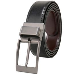 Leather Belts For Buckles Australia - Mens Leather Belt,Reversible and Adjustable Belts for Man with Rotated Buckle Cintos Masculinos Fashion Ceinture Homme 85cm to 160cm